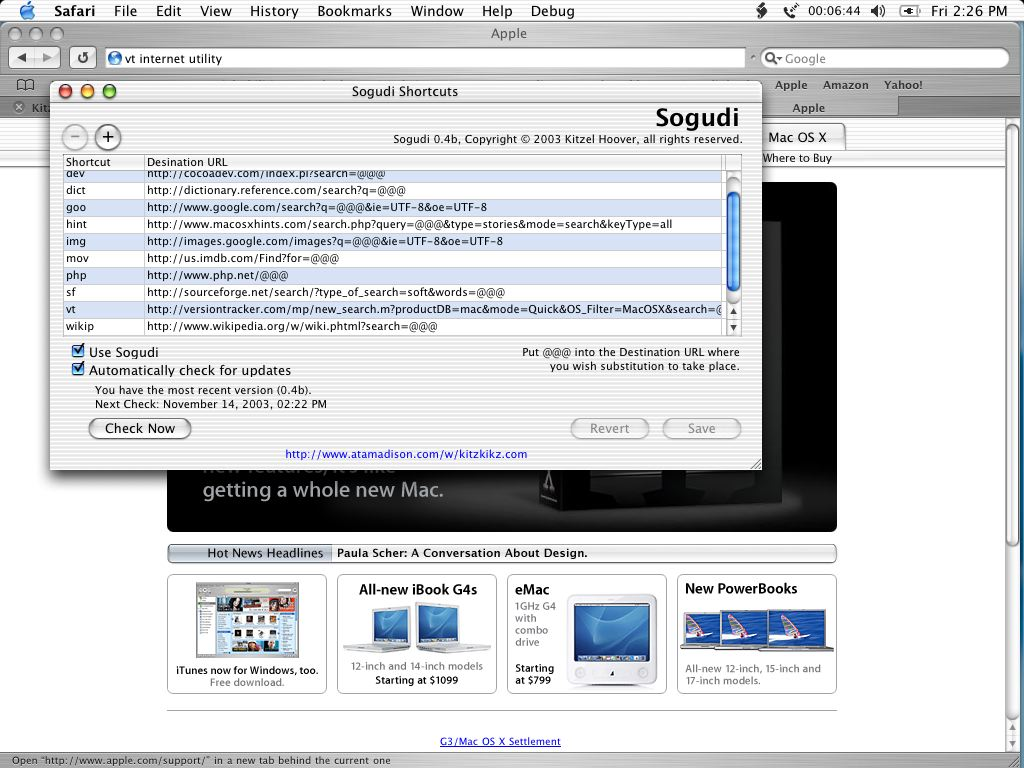 Screenshot of Sogudi in Action, 156k, 1024x768